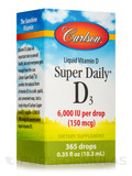 Super Daily® D3 6000 IU - 365 Drops (0.35 fl. oz / 10.3 ml)