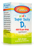 Super Daily D3 for Kids 400 IU - 365 Drops (0.36 fl. oz / 10.6 ml)
