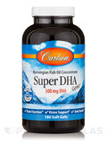 Super DHA Gems 500 mg 180 Soft Gels