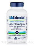 Super Omega-3 EPA/DHA with Sesame Lignans & Olive Fruit Extract - 120 Enteric Coated Softgels
