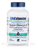 Super Omega-3 EPA/DHA with Sesame Lignans & Olive Fruit Extract 120 Softgels