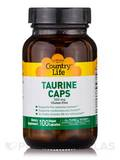 Taurine 500 mg with B6 - 100 Vegan Capsules