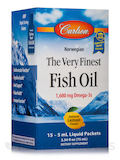 The Very Finest Fish Oil Packets 1600 mg, Natural Lemon Flavor - 1 Box of 15 Packets