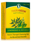 TheraNeem® Naturals Neem Therapé Cleansing Bar, Lemongrass & Patchouli - 4 oz (113 Grams)