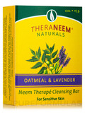 TheraNeem® Naturals Neem Therapé Cleansing Bar, Oatmeal & Lavender - 4 oz (113 Grams)