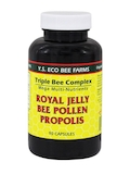 Triple Bee Complex Mega Multi-Nutrients - Royal Jelly, Bee Pollen, and Propolis - 90 Capsules
