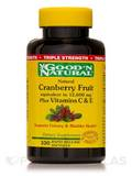 Triple Strength Natural Cranberry Fruit Plus Vitamin C and E 100 Softgels