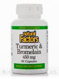 Turmeric & Bromelain 450 mg 90 Capsules