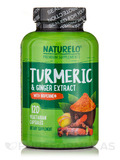 Turmeric & Ginger Extract with BioPerine® - 120 Vegetarian Capsules