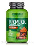 Turmeric & Ginger Extract with BioPerine® - 120 Vegetarian Capsules