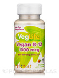 Vegan B-12 1000 mcg plus 400 mcg Folic Acid, Sugar-Free Orange Flavor - 50 Lozenges