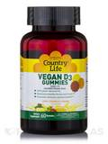 Vegan D3 Gummies 1000 IU, Lemon, Strawberry and Orange Flavors - 60 Gummies