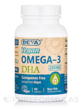 Vegan Omega-3 DHA (Derived from Algae) - 90 Vegan Softgels