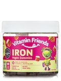 Vegan Iron Gummies for Kids, Strawberry Jam Flavor - 60 Gummies