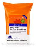 "Very Clear® Oil-Free Acne Wipes - 25 Pre-Moistened Compostable Wipes - 6"" x 7.75"" (15.3 x 19.7 cm)"