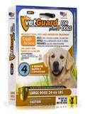 VetGuard Plus for Large Dogs (34-66 lbs) - Box of 4 Applicators (0.10 fl. oz / 3 ml Each) - 0.40 fl.