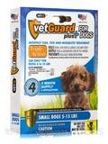 VetGuard Plus for Small Dogs (5-15 lbs) - 4 Applicators (.03 fl. oz / 1 ml Each) (.12 fl. oz)