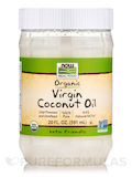 NOW Real Food® - Virgin Coconut Oil (Certified Organic) - 20 fl. oz (591 ml)