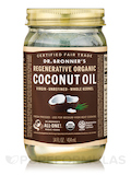 Regenerative Organic Virgin Coconut Oil (Whole Kernel, Fresh-Pressed, Unrefined) - 14 fl. oz (414 ml