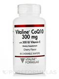 Vitaline CoQ10 with E Cherry 300 mg 60 Chewable Wafers