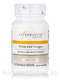 Vitaline® CoQ10 200 mg with Vitamin E, Maple Nut Flavor - 30 Chewable Wafers