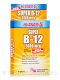 Hi-Ener-G Super B12 5000 mcg, Orange Flavor - 30 Tablets