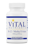 B-12 / Methyl Folate (1000 mcg / 800 mcg) - 100 Vegetarian Capsules