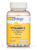 Vitamin C with Rose Hips & Acerola, Two-Stage Timed-Release 1000 mg - 100 Vegetarian Capsules