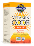 Vitamin Code® - Raw D3™ 5000 IU - 60 Vegetarian Capsules