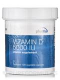 Vitamin D 5000 IU - 120 Vegetable Capsules