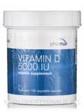 Vitamin D 5000 IU 120 Vegetable Capsules
