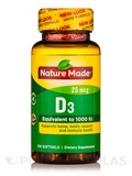 Vitamin D3 25 mcg (1000 IU) - 100 Softgels