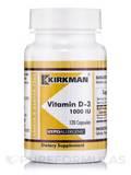 Vitamin D-3 1000 IU -Hypoallergenic - 120 Capsules