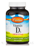 Vitamin D3 1,000 IU - 250 Soft Gels