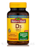 Vitamin D3 2000 IU 220 Tablets