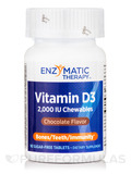 Vitamin D3 2000 IU Chocolate Flavor - 90 Chewable Tablets