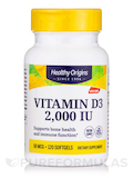 Vitamin D3 2000 IU (Lanolin) 120 Softgels