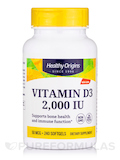 Vitamin D3 2000 IU (Lanolin) 240 Softgels
