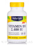 Vitamin D3 2400 IU (Lanolin) - 360 Softgels