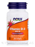 Vitamin D-3 400 IU 180 Softgels