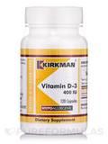 Vitamin D-3 400 IU -Hypoallergenic - 120 Capsules