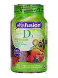Vitamin D3 50 mg Gummy, Natural Peach & Berry Flavor - 75 Gummies