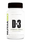 Vitamin D3 5000 IU - 120 Veggie Capsules