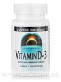 Vitamin D-3 5000 IU - 200 Softgels