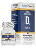 Vitamin D3 5000 IU - Extra Strength - 100 Dissolvable Tablets