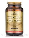 Vitamin D3 (Cholecalcifederol) 25 mcg (1000 IU) - 250 Softgels