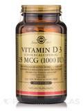 Vitamin D3 (Cholecalcifederol) 25 mcg (1000 IU) - 250 Softgels