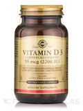 Vitamin D3 (Cholecalciferol) 55 mcg (2200 IU) - 100 Vegetable Capsules