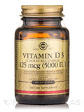 Vitamin D3 (Cholecalciferol) 125 mcg (5000 IU) - 100 Softgels
