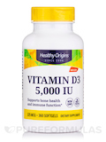 Vitamin D3 5000 IU (Lanolin) 360 Softgels